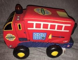 VHTF Manhattan Toy Rumblies Felix Fire Truck Soft Lights Blink Retractab... - $27.71