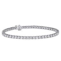 "2.75 Carat Round Cut Diamond Tennis Bracelet 7"" 14K White Gold - $1,860.21"