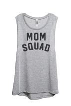 Thread Tank Mom Squad Women's Sleeveless Muscle Tank Top Tee Sport Grey - $24.99+