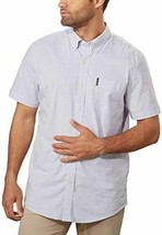 Ben Sherman Men's Short Sleeve Stretch Woven Shirt (Dark Grey, XX-Large) - $39.99