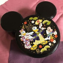 Tokyo Disney Resort Limited Donald Mickey Lunch Case BOX Black Bento - $48.51