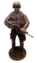 Military Special Armed Forces Sniper Base Camp Guard Statue Sculpture - $76.22