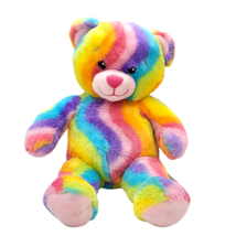 "Build A Bear Tie Dye Rainbow 17"" Teddy Bear Plush Stuffed Animal Toy  - $19.79"
