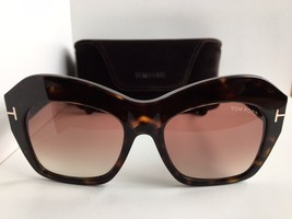 New  Tom Ford Emmanuelle TF 534 Tortoise Oversized Women's Sunglasses - $259.99