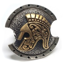 King Baby Studio .925 Sterling Silver Spartan Shield Ring Size 10 - $750.00