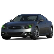 FLASHTECH for Infiniti Q60 14-15 Green Single Color LED Halo Ring Headli... - $136.22