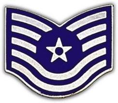 Air Force Usaf E-6 Tech Serg EAN T Rank Lapel Hat Pin - $11.72