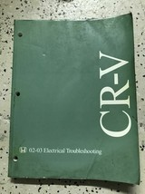 2002 2003 HONDA CRV CR-V Electrical Troubleshooting Wiring Diagram Shop ... - $47.48