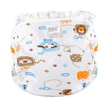 Adjustable Lovely Cartoon Cotton Washable Infant Baby Diapers