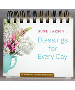 Blessings For Every Day Susie Larson Daybrightener Perpetual Flip Calend... - $11.10