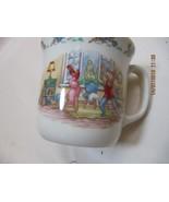 Bunnykins Childs Mug - Royal Doulton - aerobic bunnies - $21.78