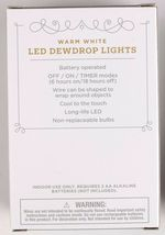 4 Pack Wondershop 30ct Christmas LED Dewdrop Lights Warm White Silver Wire NEW image 3