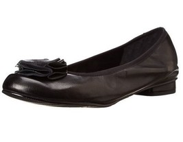 Mark Lemp Walking Cradles Melissa Ballet Flat Black Nappa Leather 5.5 M NIB - $30.66