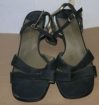 Ladies Shoes Easy Spirit Sandals in Black w/ Medium Heel  Buckles Size 7... - $6.76