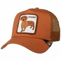 Goorin Bros Snapback Mesh Cap Rust Brown Wiener Dawg Dog Trucker Hat 101-0622 image 2
