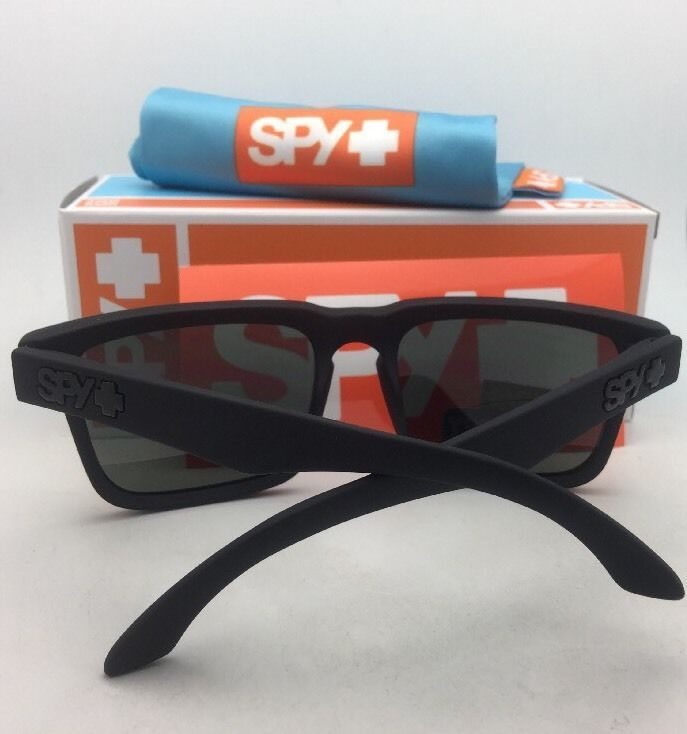 861a8b8618 New SPY OPTIC Sunglasses HELM Soft Matte Black Frames w  Happy Grey-Green  Lenses