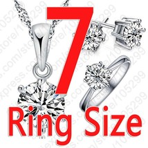 Hot Woman's Birthday Gift Wedding Jewelry Set Fashion Solid 925 Sterling... - $12.42