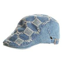 Jean Cool Baby Boy Sun Hat Infant Summer Cap Toddler Beret Cap (48-52 CM) BLUE