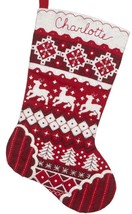 Bucilla Nordic Christmas Red White Deer Tree Holiday Felt Stocking Kit 8... - $38.95
