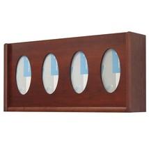Pemberly Row 4 Pocket Oval Glove and Tissue Box Holder in Mahogany   - $58.89