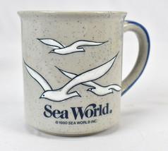 Vintage Otagiri Sea World Embossed Speckled Seagulls Coffee Mug Cup - $24.70