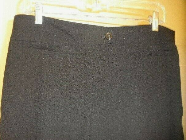 Womens Size 10 Adrianna Papell Lightweight BLACK Dress Pants - No Pockets image 3