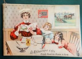 antique D.M.OSBORNE FARM TOOL EQUIPMENT CATALOG w/COOKBOOK RECIPES victo... - $124.95