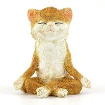 Top Collection 4410 Fairy Garden & Terrarium Cat in Meditation Statue, S... - $20.24