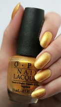 "OPI Euro Centrale ""OY ANOTHER POLISH JOKE!"" Gold Shimmer Nail Polish Lac... - $6.91"