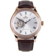 Orient Envoy FAG00001S automatic men's watch champagne dial 43mm 50m WR leather - $195.00