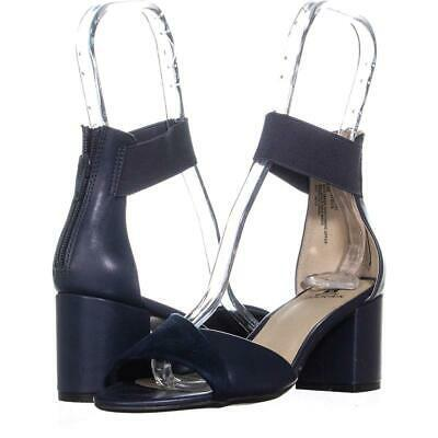 White Mountain Evie Criss Crossed Ankle Strap Sandals 454, Navy, 6 US