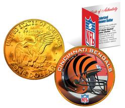 CINCINNATI BENGALS NFL 24K Gold Plated IKE Dollar US Coin * NFL LICENSED * - $9.85