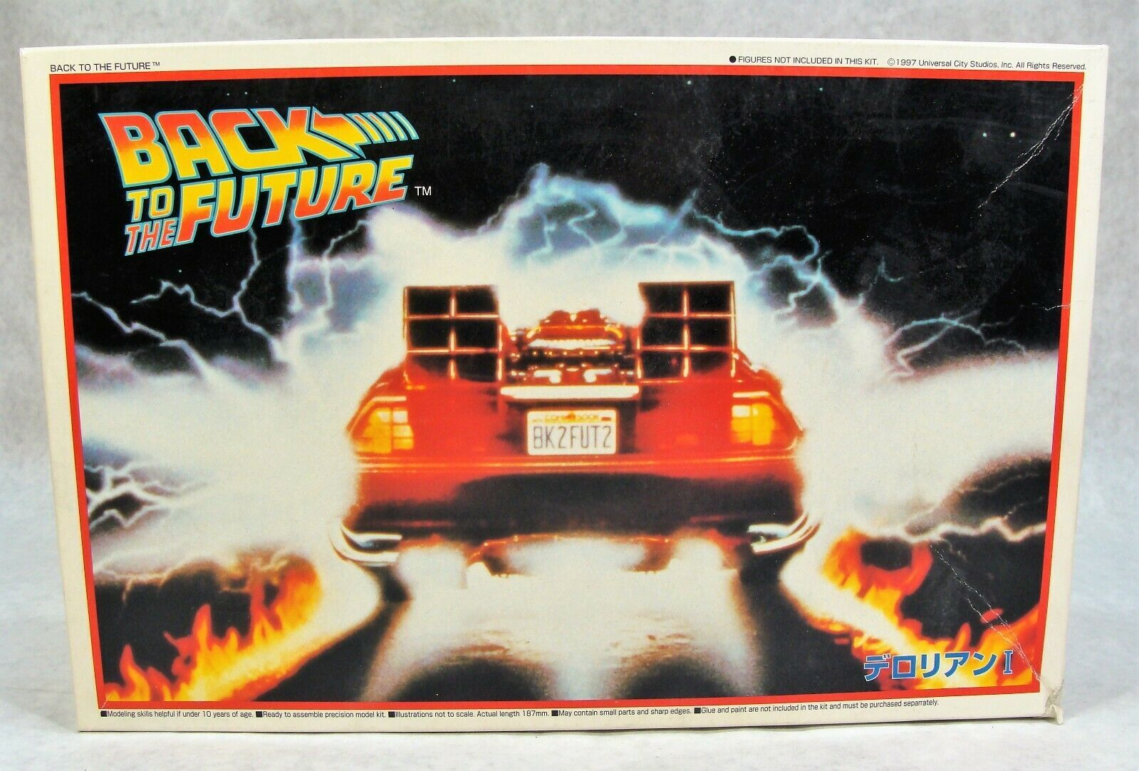 Primary image for AOSHIMA BACK TO THE FUTURE TIME MACHINE DELOREAN CAR MODEL KIT NEW!