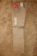Dickies Girl's School Uniform Flare Flat Front Wide Band Khaki Sz 9 Jr 3... - $14.80