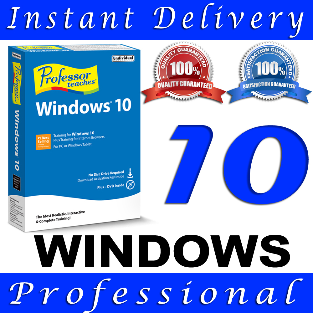 WINDOWS 10 PROFESSIONAL PRO KEY 32 / 64 BIT ACTIVATION ...