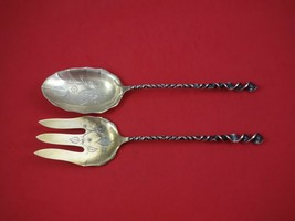 Twist #127 by Towle Sterling Silver Salad Serving Set GW BC w/Leaves and Flowers - $309.00