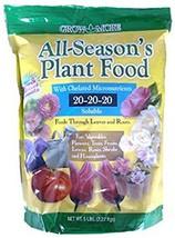 Grow More 7431 All Season's Fertilizer 20-20-20, 5-Pound,Brown/A - $52.08