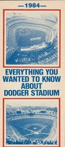 1984 LA DODGERS MLB  SCHEDULE UPDATES BROCHURE  BASEBALL MLB DODGERS INF... - $2.69