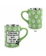 "Enesco 4026113 Our Name is Mud ""Dog Hair, 16 oz. Stoneware Mug, 16 Ounces, Green - $11.86"