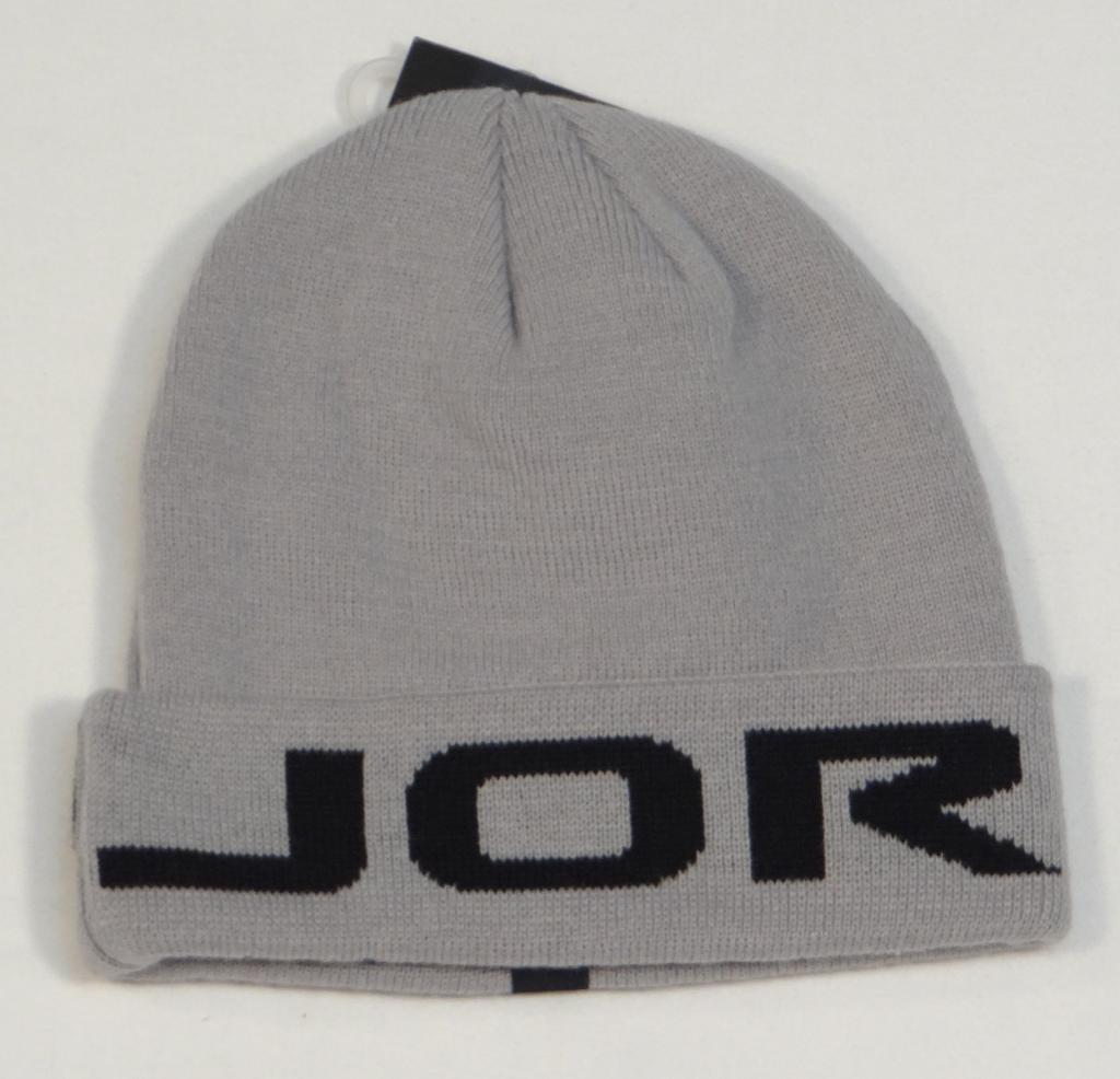 839530f2f0b S l1600. S l1600. Previous. Nike Jordan Signature Gray   Black Cuff Beanie  Skull Cap Youth Boys 8-20 NWT