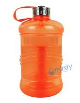 Orange BPA Free Water Bottle 2.3 Liter Canteen Gym Bottle Jug Container ... - $301,03 MXN