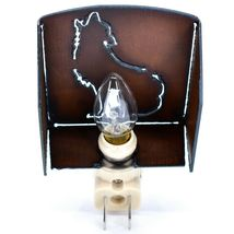 Country Western Rusted Patina Iron Metal Cutout Howling Wolf Coyote Nightlight image 4
