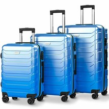 3 Pcs Spinner Expandable Suitcase with TSA Lock - new (cy) - $205.99