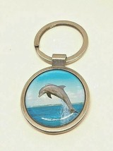 Leaping Dolphin Key Chain 30mm Split Ring - $7.55