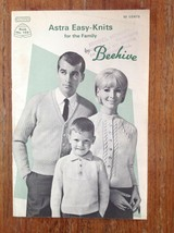 Vintage Astra Easy Knits for Family Knitting Pattern Booklet Beehive - $8.63