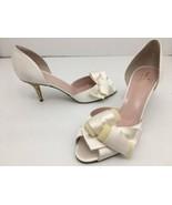 Kate Spade New York Sala Ivory Satin Glitter Kitten Women's Heel Pumps U... - $84.14