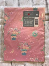 American Greetings Bridal Shower Pink Floral Wrapping Paper - $5.00