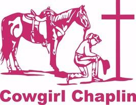 Chaplin Cowgirl Praying Horse Car Truck Window Laptop Vinyl Decal Sticker - $4.74+