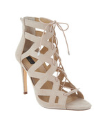 G.I.L.I. Lace-up Cut Out Heel Sandals - Floriana Totally Taupe 6 M - £34.01 GBP