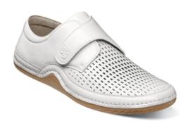 Stacy Adams Omega Moc Toe Strap Casual Shoe White 25362-100 - €63,84 EUR
